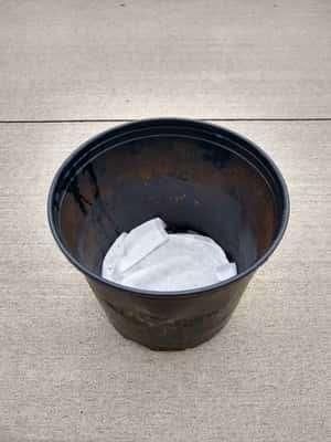 Filter in Bottom of Pot