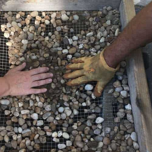 Removing Rocks from Soil with Screen