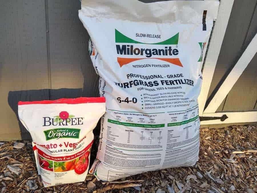 Granular fertilizer storage