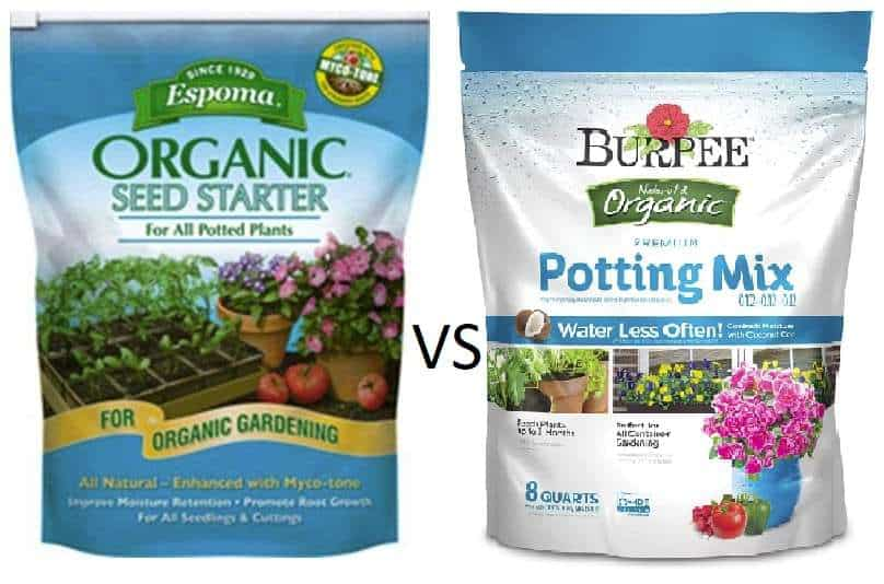 Seed Starting Mix vs Potting Soil