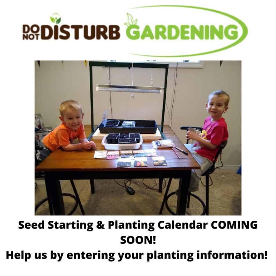 Seed Starting & Planting Calendar
